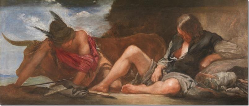 VELÁZQUEZ. MERCURIO Y ARGOS. 1659. MUSEO DELPRADO